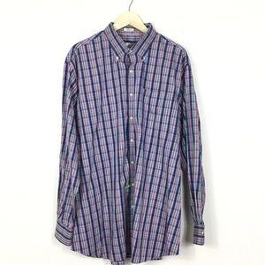 Peter Millar plaid button down Shirt XXL